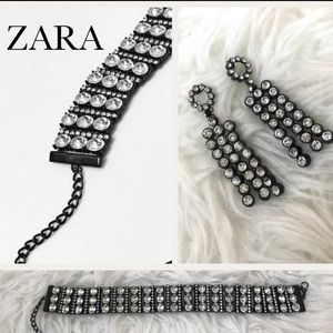 Zara choker and earrings